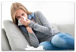 У женщины вирусное заболевание