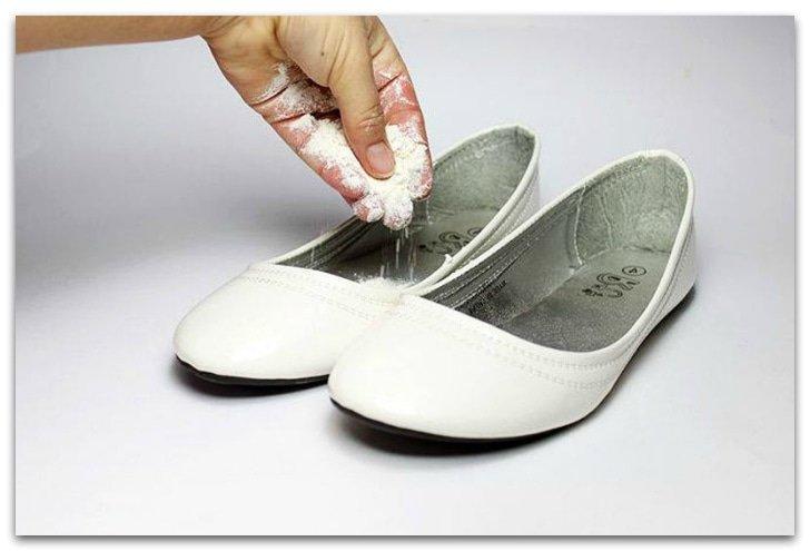 Пищевая соль от неприятного запаха ботинок