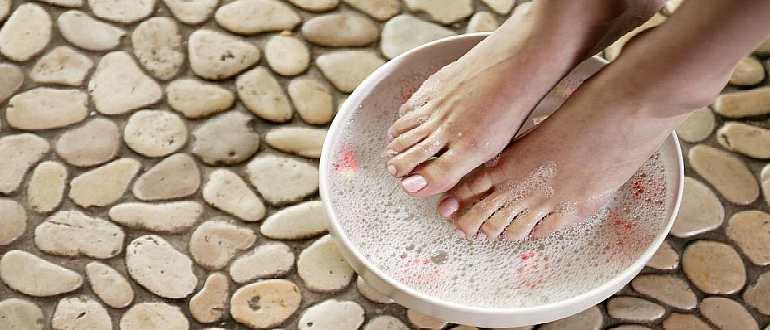 Солевая ванночка для ног