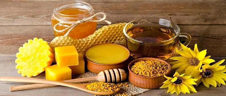 Цветочная пыльца, мед, цветы