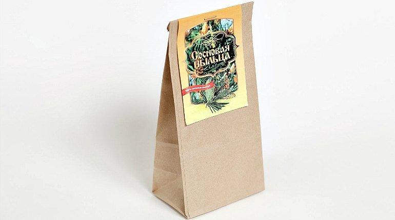 Сосновая пыльца в бумажном пакете