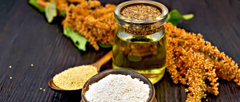 Продукты из амаранта, мука, масло, зерно