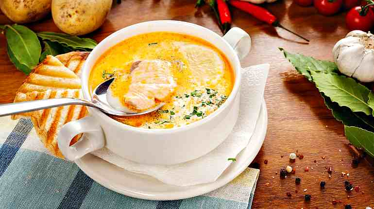 Суп в ресторане