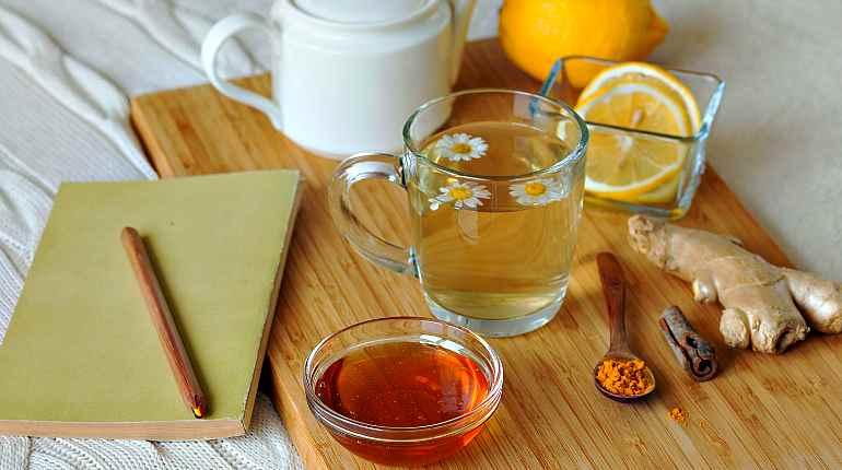 Комбинированные чаи с ромашкой