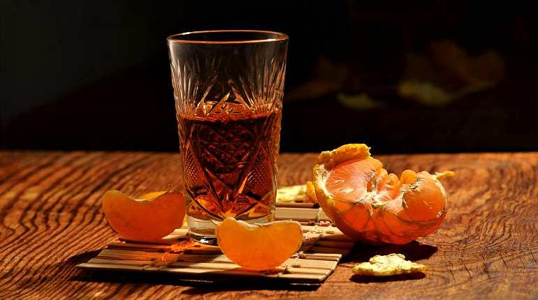 Водка с мандарином
