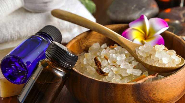 Морская соль и эфирные масла