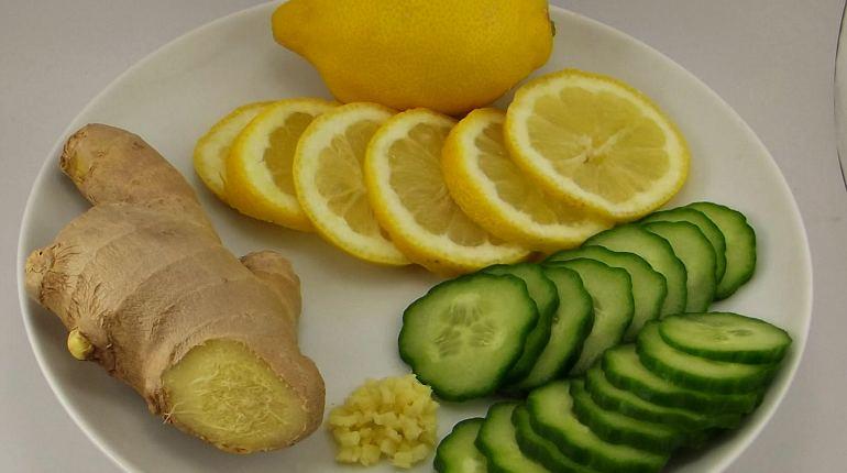 Лимон огурец имбирь