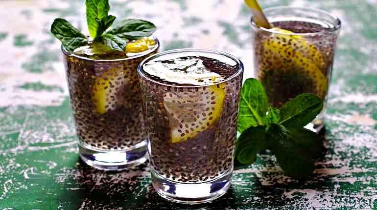 Напиток с семенами чиа