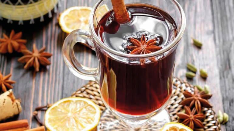 Чай с бадьяном и лимоном