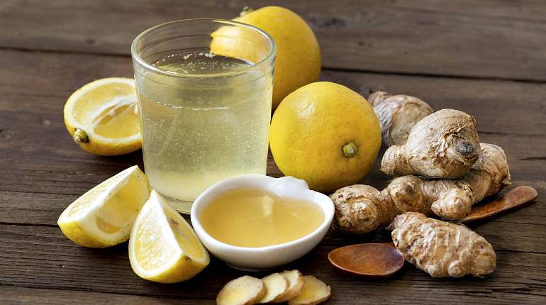 Отвар имбиря с лимоном