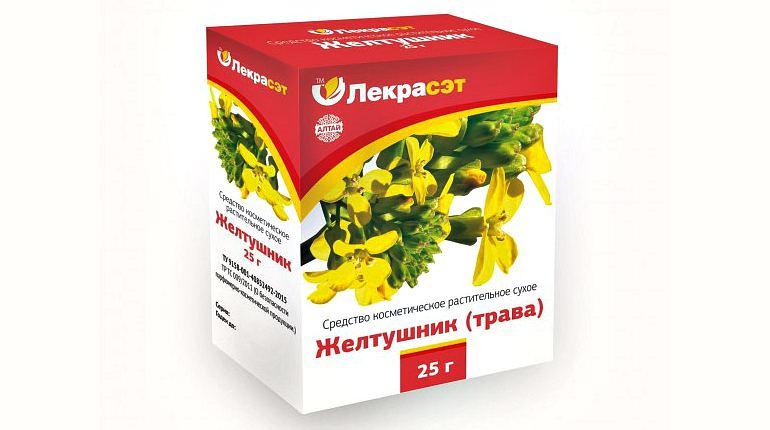 Косметическое средство из травы желтушник