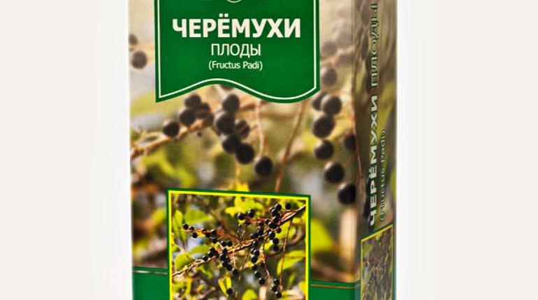 Сушеные плоды черемухи