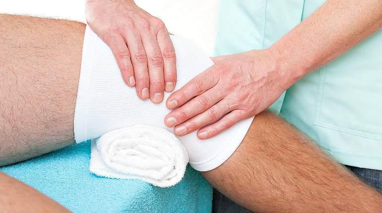 Солевая повязка на коленный сустав