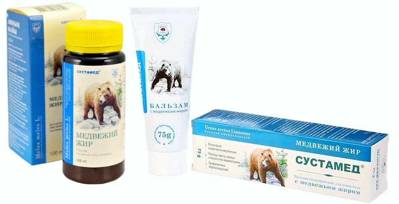 Аптечные препараты с медвежьим жиром