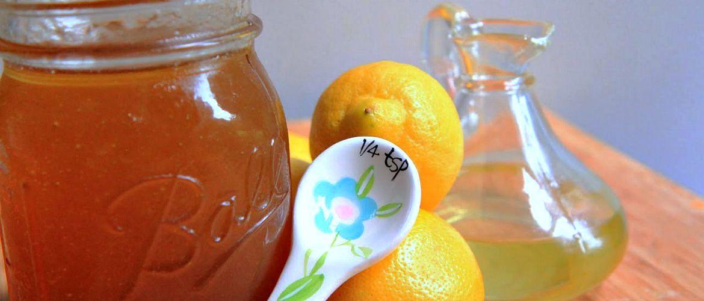 Мед, лимон, оливковое масло