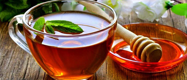 Чай с медом и мятой