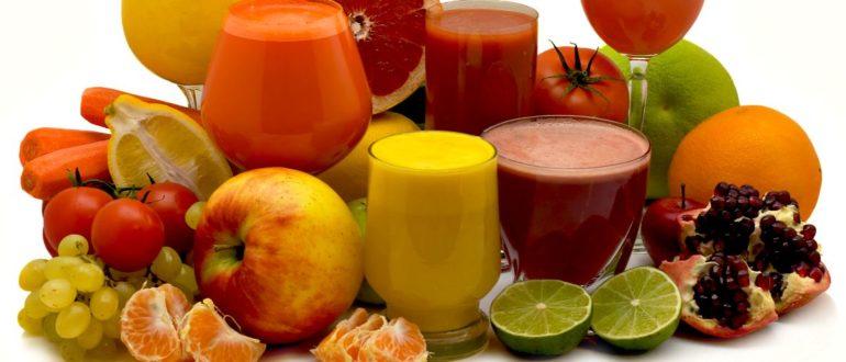 Фрукты, овощи, соки